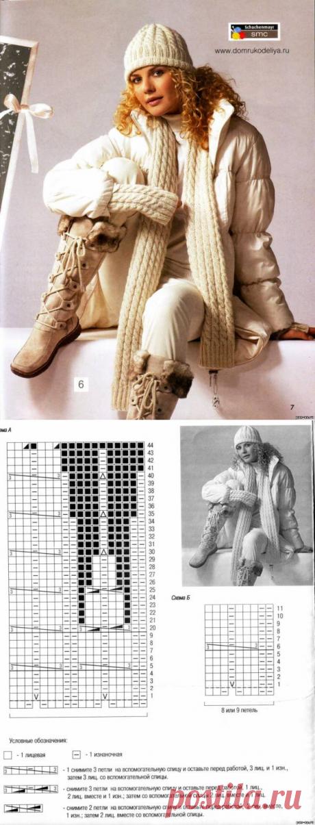 Вязание шапок и шарфов спицами. Модель 2013 года со схемой - Вязание - Мастерице - Сделаем сами - Пан Ас. Сделай сам. Сделать самой. Детские поделки