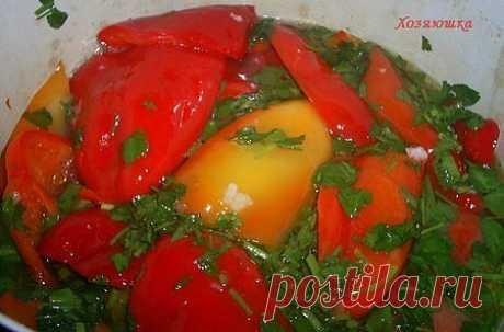 Перец, маринованный половинками за 5 минут | Любимые рецепты