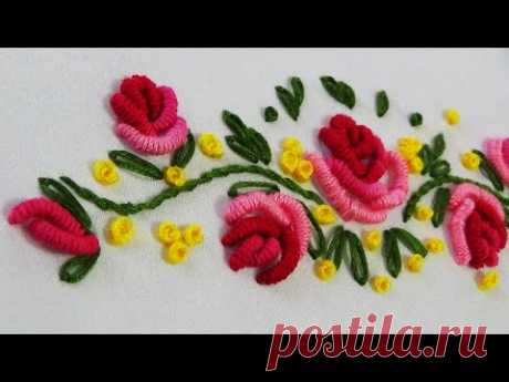 Hand Embroidery: Brazilian Embroidery/ Bullion Roses