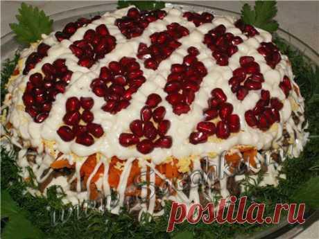 """Салат """"Сказка"""" - рецепт с фото Рецепт салата Сказка с телятиной и грибами для новогоднего стола."""
