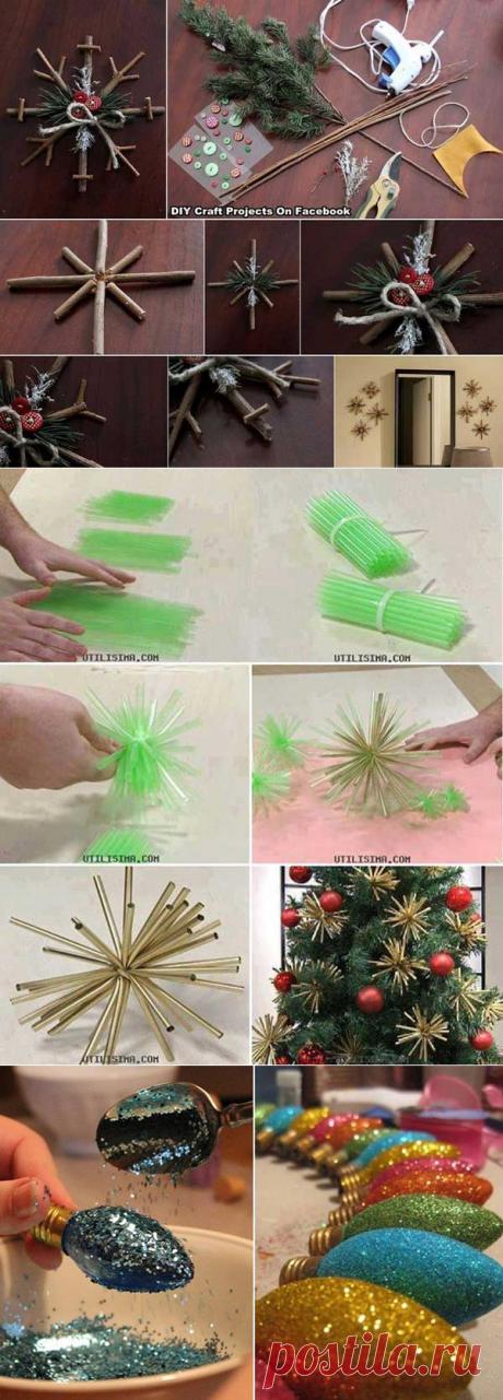 40 простых и бюджетных новогодних украшений своими руками | Naget.Ru