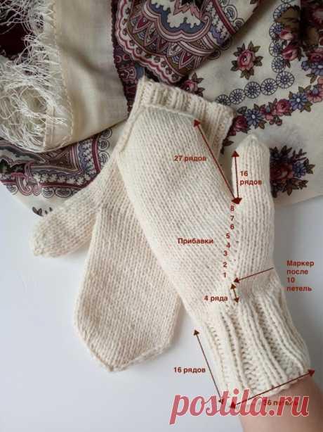 Варежки с «анатомическим» пальцем (Вязание спицами) – Журнал Вдохновение Рукодельницы