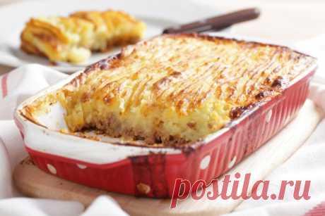 Пирог из картофеля и рыбы