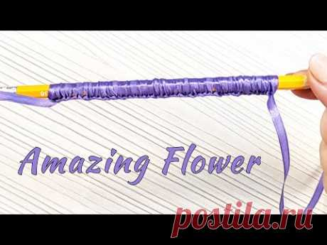 Видео мастер-класс: Лайфхак. Как быстро и просто сделать красивый цветок Лаванды своими руками - YouTube