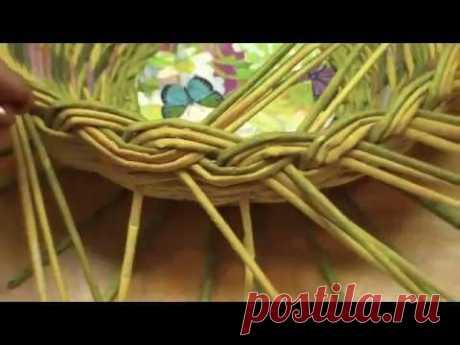 Лозоплетение ☆ основы для начинающих (подходит для плетения из газетных трубочек)