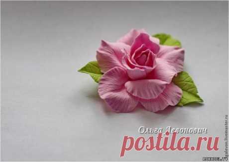 Мастер класс по лепке цветка Роза из полимерной глины - Цветы из полимерной глины - Полимерная глина - Каталог статей - Рукодел.TV