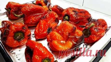 Болгарский перец на зиму запеченный в духовке простой рецепт заготовки - Яндекс.Видео