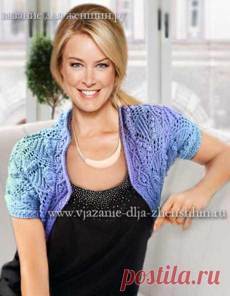 Схемы вязания болеро спицами - 10 модный моделей болеро для женщин