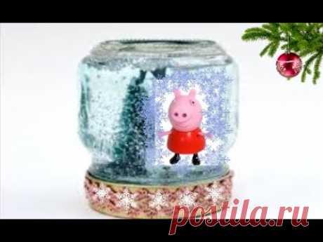 Снежный Шар Со Свинкой Детские Поделки Своими Руками Видео / Идеи Подарков на Новый год Свиньи 2019