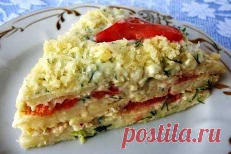 Кабачковый торт рецепт с фото пошагово как приготовить У нас есть прекрасная возможность готовить вкусные блюда из кабачков. Кабачковый торт с помидорами и сыром, рецепт которого я хочу показать, одно из любимых блюд моей семьи. Желаю вам всем наслаждения есть этот простое и вкусное блюдо из кабачков. Смотрим, как приготовить кабачковый торт с помидорами и сыром...
