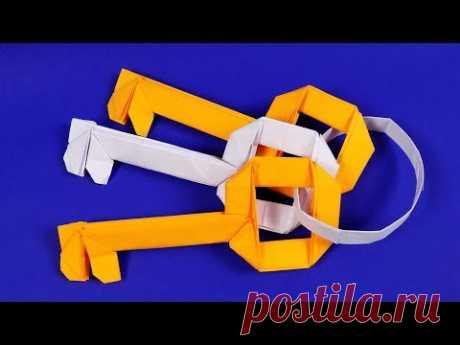 Оригами ключ. Как сделать ключ из бумаги. Оригами из бумаги схемы поэтапно.