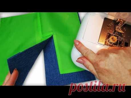 Уникальный швейный трюк! Шлица и подкладка проще не бывает
