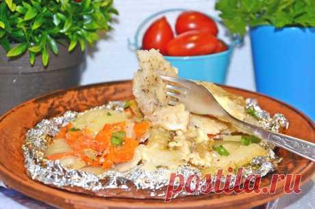 Рыба в фольге с картошкой рецепт с фото пошагово - 1000.menu