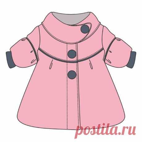 Coat pattern for the little girl