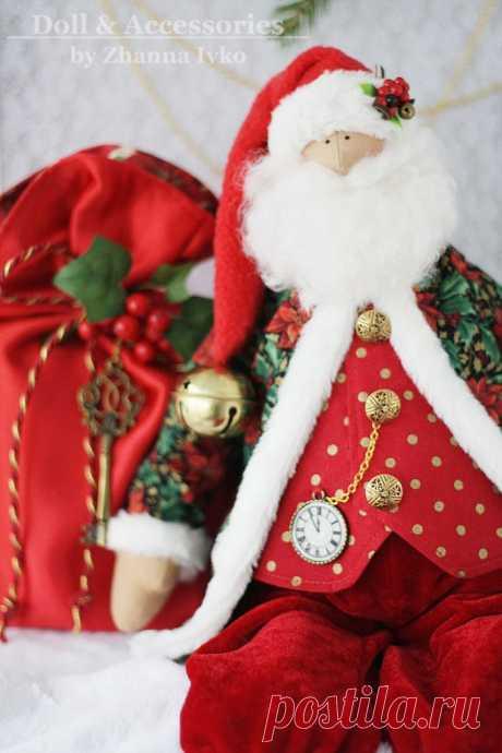 Санта Клаус Тильда с оленем.Выкройка.мастер класс