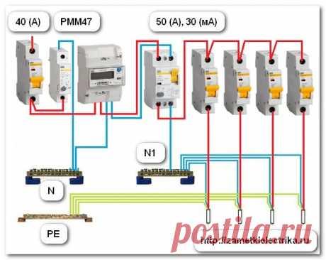Схема подключения расцепителя РММ47 | Заметки электрика