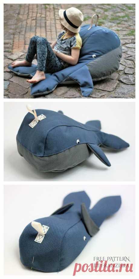 Подушка кит (готовые выкройки) Модная одежда и дизайн интерьера своими руками