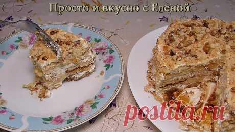 Торт из пряников и бананов