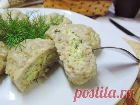 Паровые куриные котлеты с творожно-сырной начинкой - рецепт - как приготовить - ингредиенты, состав, время приготовления - Леди Mail.Ru