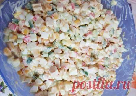 (11) Салат крабовый для дочурки - пошаговый рецепт с фото. Автор рецепта Anna Zelenenkaya . - Cookpad