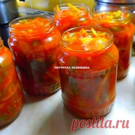 Салат из огурцов на зиму в томате - Заготовки от Перчинки - Perchinka Hozyayushka.ru