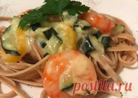 (3) Вкуснейшая паста с креветками и овощами - пошаговый рецепт с фото. Автор рецепта Anna Percemli Hiora🏃♂️ . - Cookpad
