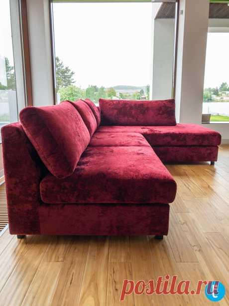 Угловой диван по индивидуальному проекту на заказ. Еще больше диванов на нашем сайте tamamm.ru
