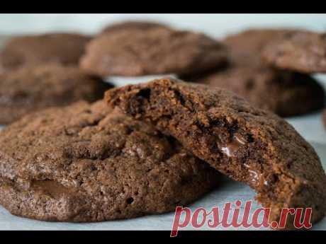 Шоколадное Печенье с Кусочками Шоколада   Double Chocolate Cookies