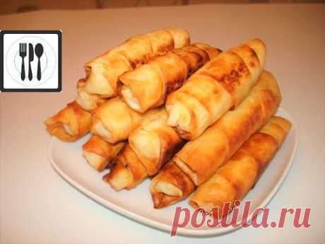Сигара Бёрек из Лаваша с картошкой. Быстрые турецкие пирожки в виде сигар/Sigara boregi
