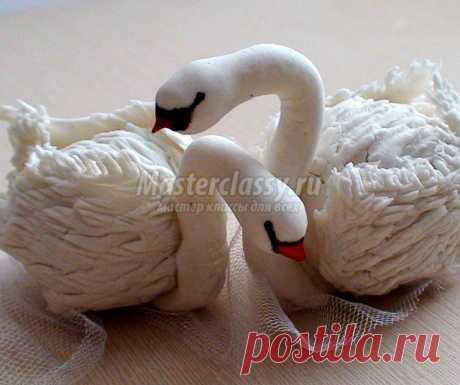 Лебеди из Холодного фарфора. Мастер класс с пошаговыми фото