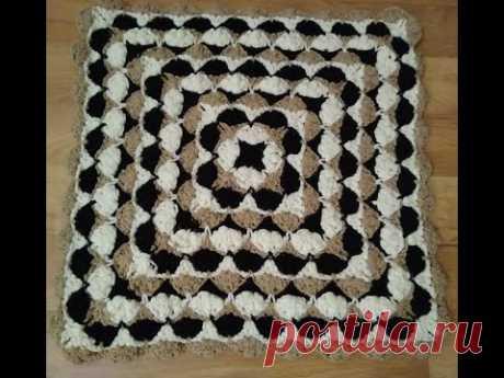 Простой и красивый коврик, сидушка/МК/для начинающих/Crochet