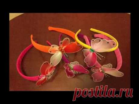 How to make a nylon stocking Headband with butterfly