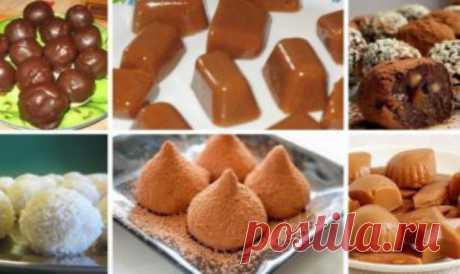Топ-6 рецептов наивкуснейших домашних конфет 1. Шарики «Мечта» — фантастический десерт без выпечкиПолучается намного вкуснее магазинных сладостей!Ингредиенты: ванильные сухари — 150 гр молоко — 100 мл сгущенка — 3 ст.ложки какао — 2 ст.ложки щеп…