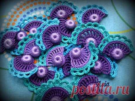 Мотивы Крючком - Ирландское Кружево - 2016 / Crochet Motifs - Irish Lace / Crochet Motive