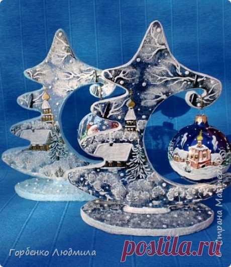 Ёлка-подвеска для новогоднего шара | Страна Мастеров