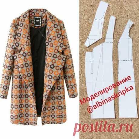 Пальто с огромными лацканами