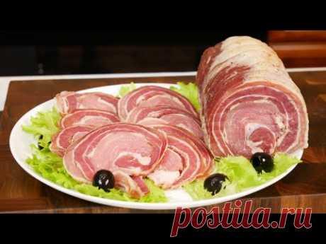Как приготовить дорогую ПАНЧЕТТУ РОМАНИ за копейки. Вяленое мясо на Новый год. Цыганка готовит.