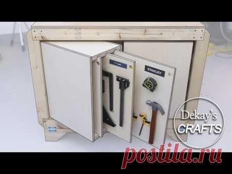 Деревообработка: вертикальная стойка для инструментов + скрытое хранилище [Woodworking]