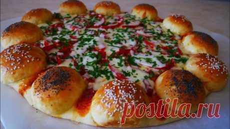 Пицца пирог ОРИГИНАЛЬНО НЕВЕРОЯТНО вкусно и КРАСИВО УДИВИТЬ сможете ВСЕХ