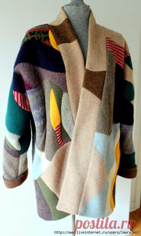 (3) Пальто - пэчворк из старых свитеров: laura_mz — ЖЖ