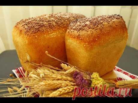 Пшеничный формовой хлеб на опаре пулиш ☆ ПОЛУЧАЕТСЯ ВСЕГДА! ☆Белый хлеб Кирпичик
