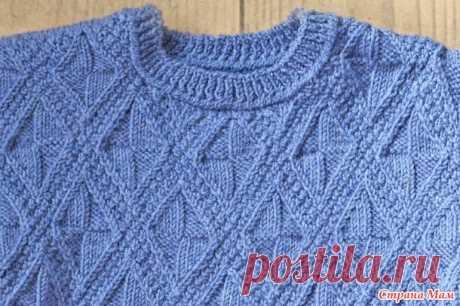 Детский свитер спицами рельефным узором - Вязание - Страна Мам