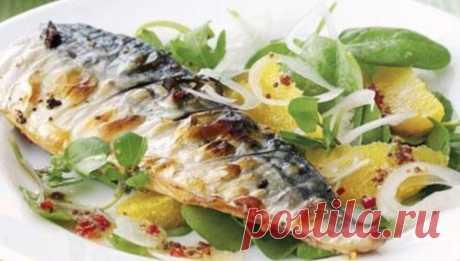 Вкусно и очень полезно: Скумбрия, запечённая с овощами Обожаю такую рыбку!