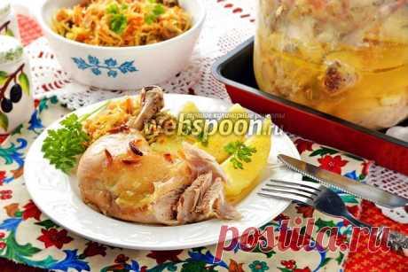 Курица в банке в духовке рецепт с фото, как приготовить на Webspoon.ru