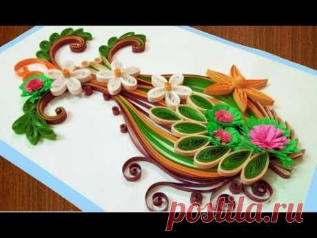 ☑️Quilling Card DIY Paper Quilling Birthday Greeting Card ⏭ Step by Step 🌹Paper Quilling Art🌹