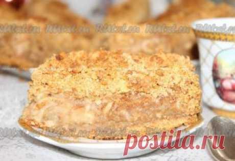 """Яблочный пирог с корицей """"Скороспелка"""" Хочу поделиться рецептом очень-очень вкусного, нежно-влажного..."""
