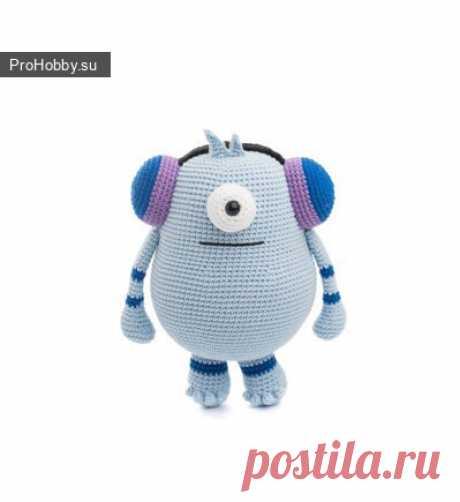 Забавный миньон крючком / Вязание игрушек / ProHobby.su | Вязание игрушек спицами и крючком для начинающих, мастер классы, схемы вязания