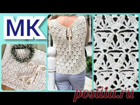 Мастер-класс: вязание крючком узора из тонкой пряжи / Master class: crochet pattern of fine yarn