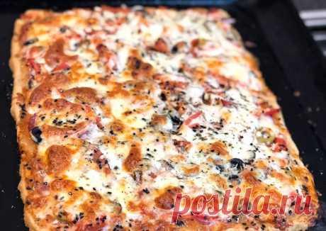 Пицца из цельнозерновой муки без дрожжей🍕 - пошаговый рецепт с фото. Автор рецепта Olesya Anashkina👩🏻🍳🌳 . - Cookpad