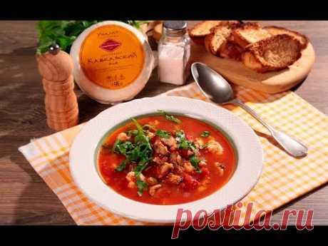 Острый томатный суп с мидиями